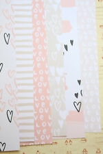 Sweet Hearts Card Stock 250gsm Pink Black heart scrapbooking paper backgrounds
