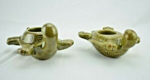 PartyLite - Decorative Turtles Candle Holders - Pair (Votive / Tealight)