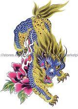 "US SELLER, Body Jewelry Inspired lucky powerful Kylin Magic Beast 8.25"" tattoo"