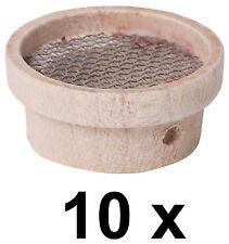 10 x Mini Sieb Minisieb Miniatur Geschirr für Puppenstube  D 2,5 cm