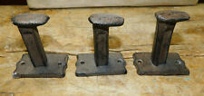 1 Cast Iron Antique Style Railroad Spike Coat Hooks Hat Hook Rack Towel Garden