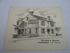 1960,S ADVERTISING POSTCARD CALL CARD STAG AND GRIFFIN WESTHOUGTON CHEQUERBENT