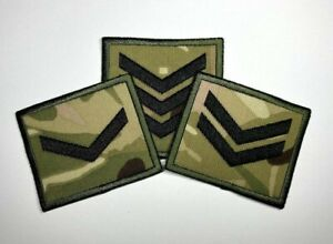 Multicam Rank Patch Badge Lance Corporal, Corporal, Sergeant. British Army