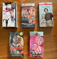 Musicals & Broadway VHS Lot (5 Vintage VHS Cassettes w/ Sleeves) Marilyn Monroe