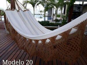 200 x 150 cm Hamaca Plegable Hamaca para 2 Personas Boho Gran macram/é brasile/ño Silla de Red Plegable c/ómoda
