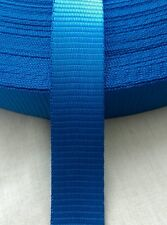 NEW 10M BLUE POLYESTER WEBBING 25MM (1 INCH)*CRAFT*TIE DOWN*DOG LEADS*1.2TON