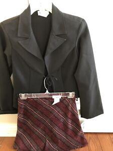 NWT 2 Pc. Jacket/skirt Set By Wrapper/100% Polyester Jacket/acrylic Skirt/sz. 3