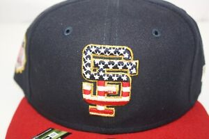 NEW ERA San Fransisco Giants Stars and Stripes 4th of July On-Field 59FIFTY Hat