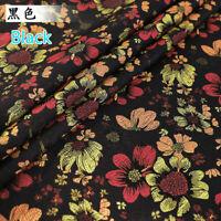 Jacquard Brocade Floral Faux Silk Satin Fabric Cloth Sew Craft Upholstery Decor