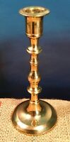 "Vintage Hampton Brass Candle Holder Candlestick Taper 7"" Tall #61675 Stamped"