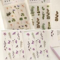 Plants diary stickers stationery scrapbooking decor bullet Q0R8 journal N2D2
