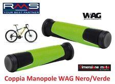 """0246 - Coppia Manopole """"WAG"""" colore Nero/Verde per Bici 20-24-26 Pieghevole"""