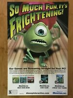 Disney Pixar Monsters Inc. PC 2000 Vintage Poster Ad Print Art Official Promo
