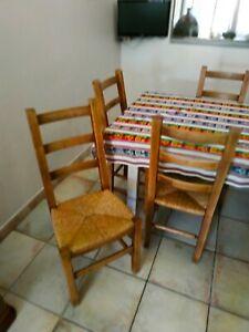 6 chaises paille hetre tres bon etat