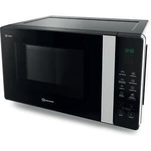 Bauknecht Mikrowelle schwarz 20 L freistehend 800W Crisp und Warmhaltefunktion