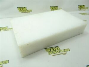 "9LB MACHINABLE PLASTIC BAR STOCK 2-1/2"" THICK X 8-1/8"" WIDE 13-1/4"" LENGTH"