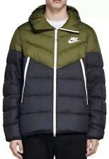 Nike NSW Down Fill Hooded Puffa Jacket AO8911-395 Black/Olive Size XXL New