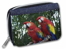 Macaw Parrots in Palm Tree Girls/Ladies Denim Purse Wallet Christmas , AB-PA12JW