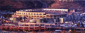 San Diego Qualcomm Stadium Sunset At Superbowl 37 Panorama 11x28 in Poster   #18