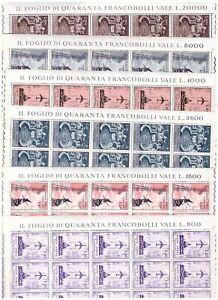 S20587) Vatican MNH 1967 Air Mail 6v Sheet Folded - Folded