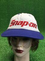 White Snap-on Snapback Hat Cap Blue Red Kansas Speedway Tools Racing NASCAR