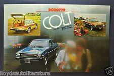 1979 Dodge Colt Postcard Sales Brochure Excellent Original 79