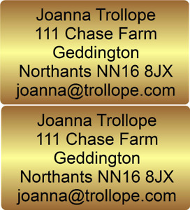 130 stickers labels return Address Personalised Gold