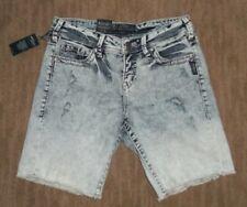 SILVER Jeans LOLA BOYFRIEND Stretch DENIM Cut Off Jean SHORTS womens Size 27 NEW