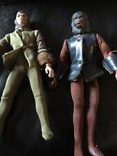 Two Vintage 1974 Planet Of The Apes Figures With Outfits