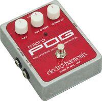 Electro-Harmonix Micro Pog Polyphonic Octave Generator Effects Pedal EHX