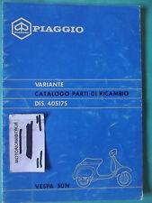 VESPA 50 N 50N PIAGGIO CATALOGO VARIANTE RICAMBIO RICAMBI BROCHURE PARTS