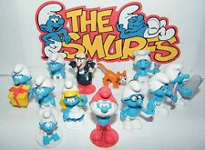 Smurfs Figure Set of 12 with Baby Smurf, Smurfette, Brainy, Gargamel and More!