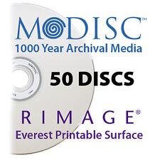 M-Disc 1000 Year Media, Rimage Everest Printable DVD+R 4.7GB 4x (50 Discs)