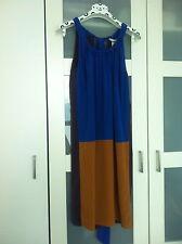 MARNI FOR H&M BLUE, MUSTARD & AUBERGINE SILK DRESS - PARTY/WEDDING/CRUISE - BNWT