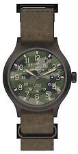 TW4B06600 Timex Expedition Mens Quartz Watch Camo Dial Brown Leather TW4B066009J