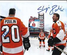DAVE POULIN & SHJON PODEIN Autographed Signed 8x10 Photo Philadelphia Flyers COA