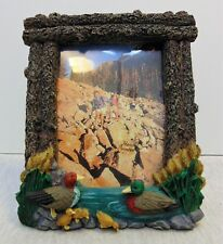 Hand Painted Resin 3D Photo Frame Ducks Photo Size 4 x 5
