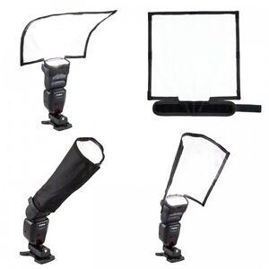 25cm x 28cm Foldable Flash Reflector Snoot Diffuser Softbox Universal UK Seller