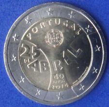 """PORTUGAL -  2 EUROS 2014 Gedenkmünzen   """" 40 Jahre Nelkenrevolution """""""