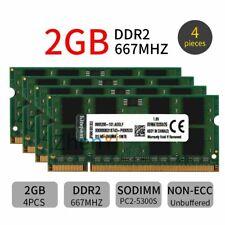 For Kingston 8GB 4x 2GB 1GB DDR2 667MHz PC2-5300S KVR667D2S5/2G Laptop RAM CA