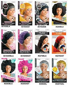 Long Hair Women Kids Satin Velvet Bonnet Sleep Hat Cap Day Night Silk Feel Cap