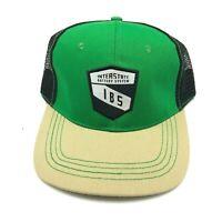 Interstate Battery System Hat Cap Snapback Green Tan White Trucks Cars