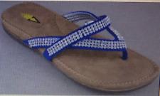 Volatile Linked Rhinestone Women's Flip Flop Wedge Sandals Size 10M NIB