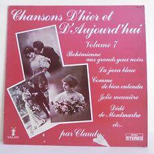 33T CLAUDY & MARCELLO Vinyle LP CHANSONS D'HIER ET D'AUJOURD'HUI V. 7 -VALMY 758