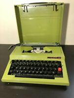 Vintage Maritsa 30 Olive Green Typewriter Works Perfect