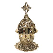 Beautiful Brass Vigil Lamp Orthodox Church Gift Prayer Corner Kandili free s&h