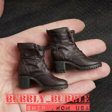 "1/6 Avengers Scarlet Witch Combat Boots For 12"" Phicen HotToys Female Figure USA"