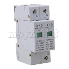 2P 20~40KA Din Rail Surge Guard Device SPD Lightning Arrester White