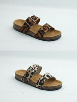 Brand New Thomas Calvi Leopard Print Sliders Great For Summer!! FREE P&P
