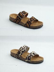 Brand New Thomas Calvi Leopard Print Sliders Great For Summer!! FREE P&P